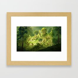 Remain of the ancient river Framed Art Print