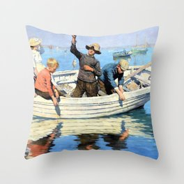 Chadding in Mounts Bay - Stanhope Alexander Forbes Throw Pillow