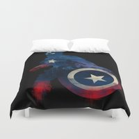 justice Duvet Covers featuring For Truth And Justice by dan elijah g. fajardo