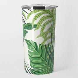 Green tropical leaves II Travel Mug