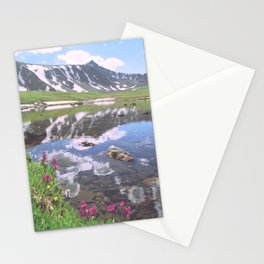 Pacific Peak Reflection on Upper Mohawk Lake, Colorado Stationery Cards