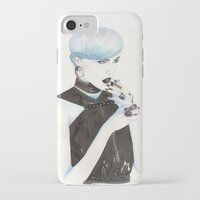 cigarette iPhone & iPod Cases featuring Cigarette by Alessandra Castagnolo