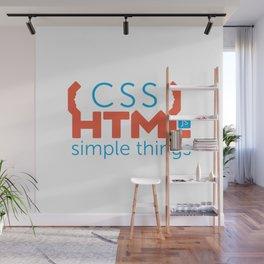HTML/CSS/JS Wall Mural
