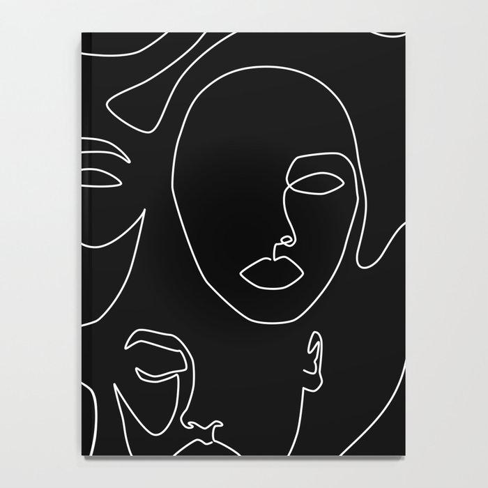 Faces in Dark Notebook