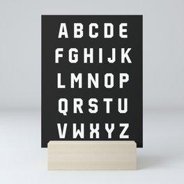 Typography Alphabet #3 Mini Art Print