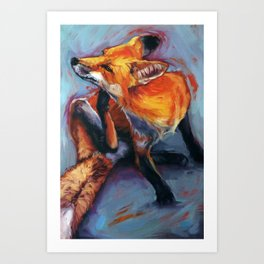 Right...there... Art Print