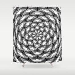 Hypnotic Icosahedron Geometric Pattern Shower Curtain