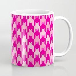 Pink Catstooth Pattern Coffee Mug