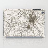dallas iPad Cases featuring Dallas Map by Zeke Tucker