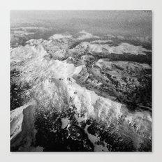 Winter Mountain Range Canvas Print
