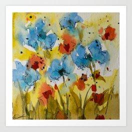 Flowers (watercolor) Art Print