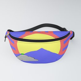 flag of Roswell with flying saucer Fanny Pack