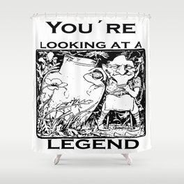 You're Looking At A Legend St Patricks Day Clurichaun Shower Curtain
