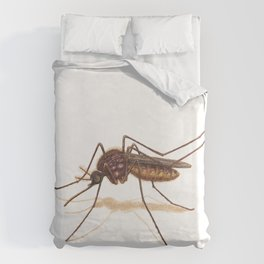 Mosquito by Lars Furtwaengler | Colored Pencil / Pastel Pencil | 2014 Duvet Cover