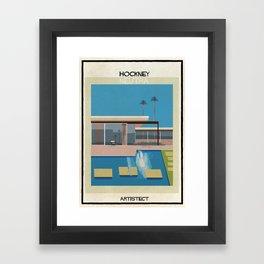 Hockney+neutra Framed Art Print