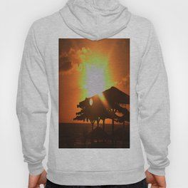 sunset at the beach Hoody