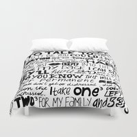 word Duvet Covers featuring Word by Etiquette