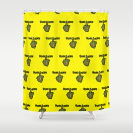 FXXK OFF ZOMBIE -YELLOW Shower Curtain