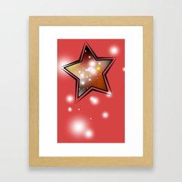 Red galaxy stars Framed Art Print