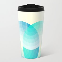 Three colour circles inverted, inspired by Lacouture's Répertoire chromatique Travel Mug
