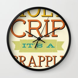 Holy Crip It's A Crapple! Wall Clock