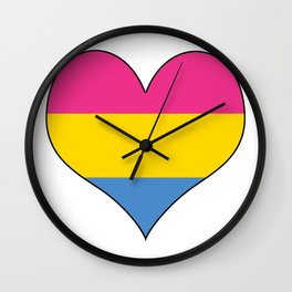 Pansexual Heart Wall Clock