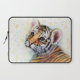 Tiger Cub Watercolor Laptop Sleeve