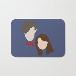 The Eleventh Doctor and the lovely Clara Oswin Oswald Bath Mat