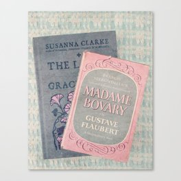 Pink and Gray Books Canvas Print