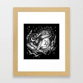 BLACK TOAD Framed Art Print