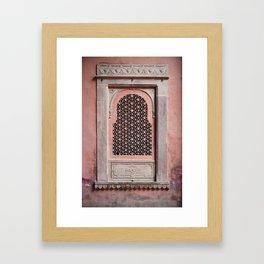 Bikaner Window 2 Framed Art Print