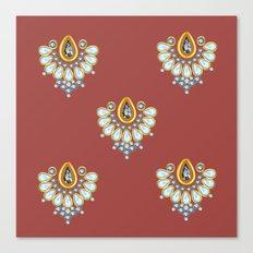 Hindi Pattern Canvas Print