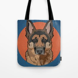 Icons of the Dog Park: German Shepherd Design in Bold Colors for Pet Lovers Art Print Tote Bag