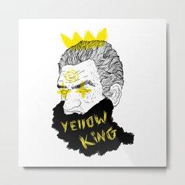 Yellow King Metal Print