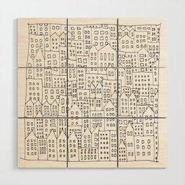Coit City Pattern 1 Wood Wall Art