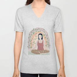 Stay Calm and Connected Unisex V-Neck