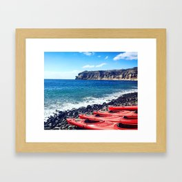 Greek Kayaks Framed Art Print