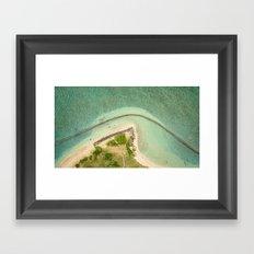 Kualoa From Above Framed Art Print