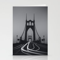 marc johns Stationery Cards featuring St. Johns Monotone by Cameron Booth