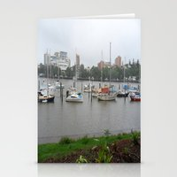 boats Stationery Cards featuring Boats by Skye Rao