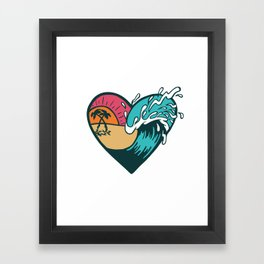 Wave Heart Framed Art Print