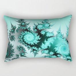 Winter magic in soft blue Rectangular Pillow