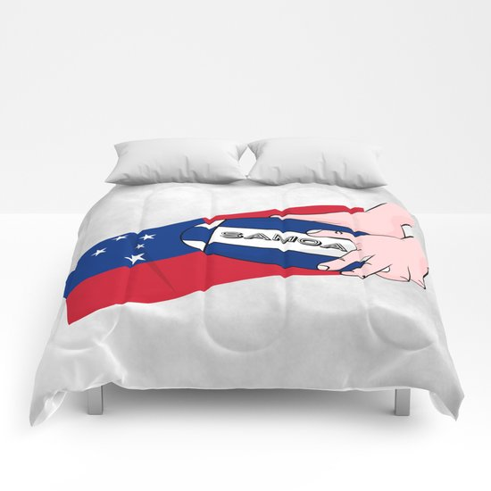 Samoa Rugby Flag Comforters