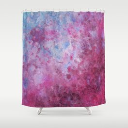 Abstract Square Pink Fizz Shower Curtain