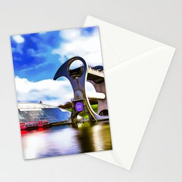 The Falkirk Wheel (Painting) Stationery Cards