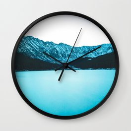 Clinton Gulch // Scenic Sunset Colorado Mountain Range Lake Forest Landscape Photography Decor Wall Clock