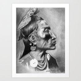 CROW SHAMAN Art Print