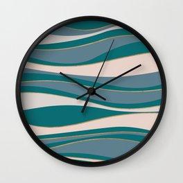 Blueprint Wavy Pattern 5 Wall Clock