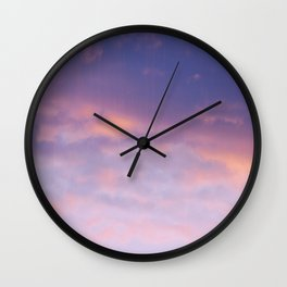 Sunset clouds Wall Clock