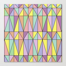Pastel Triangles - Geometric Pattern Canvas Print